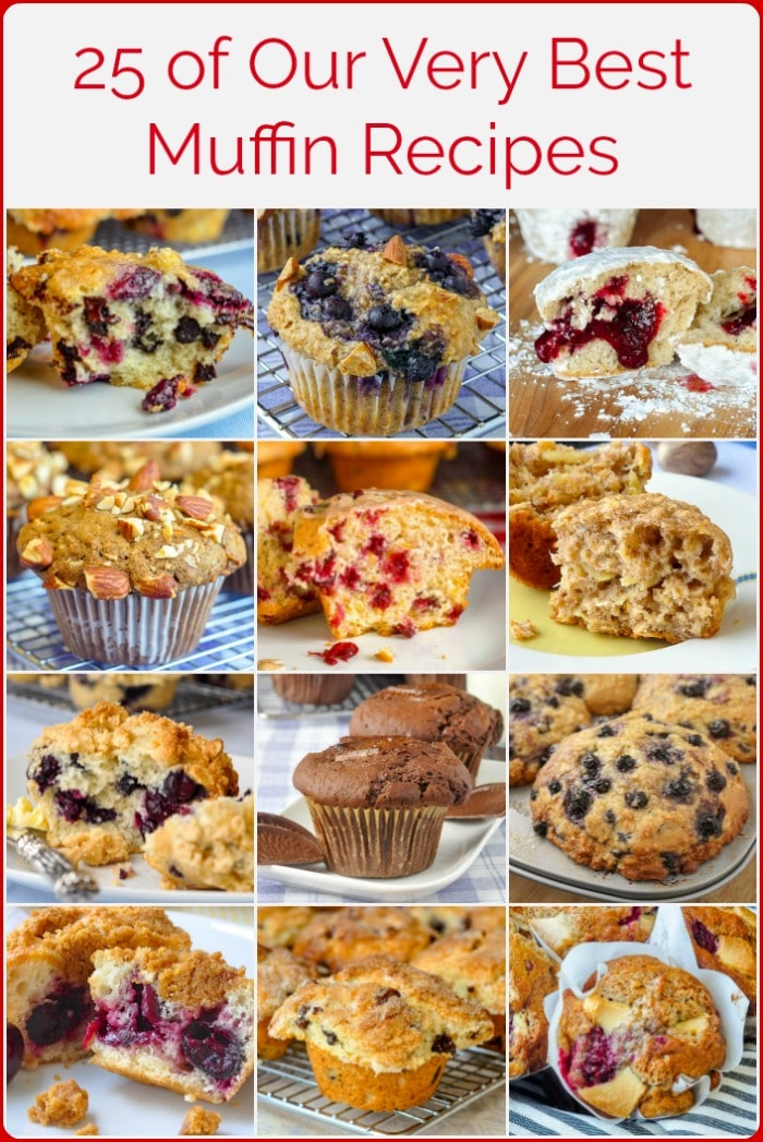 Best Muffin Recipes photo collage with title text for Pinterest