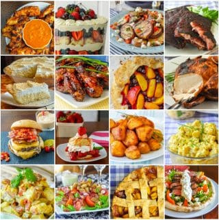 Square Collage of Best Labour Day Barbecue Recipes