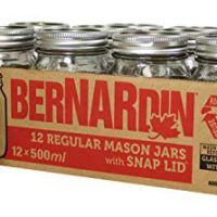 Bernardin Regular Mouth 500ml Mason Jars-Box of 12