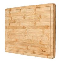Premium Organic Bamboo Extra Large Cutting Board and Serving Tray with Drip Groove