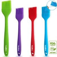 WALFOS Basting Brush Silicone Heat Resistant Pastry Brushes  (4-Piece Set) - BPA Free