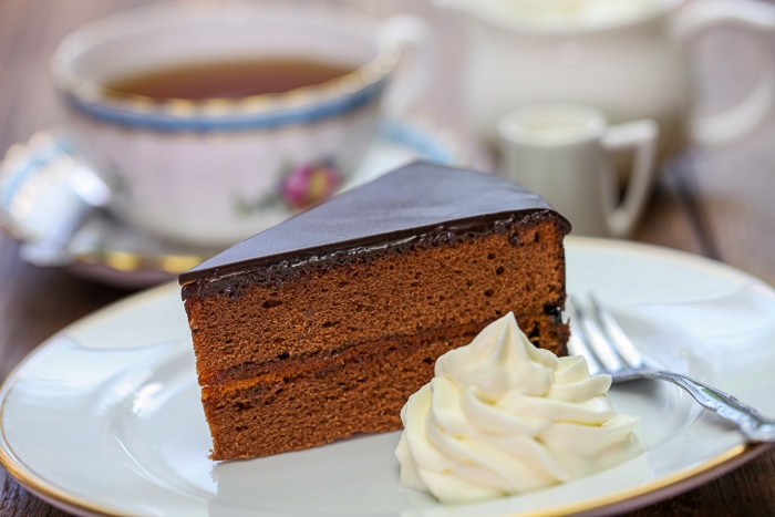 Viennese Sachertorte stock photo
