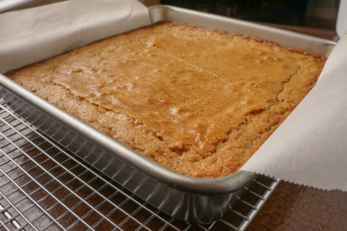 The Best Blondies just out of the oven