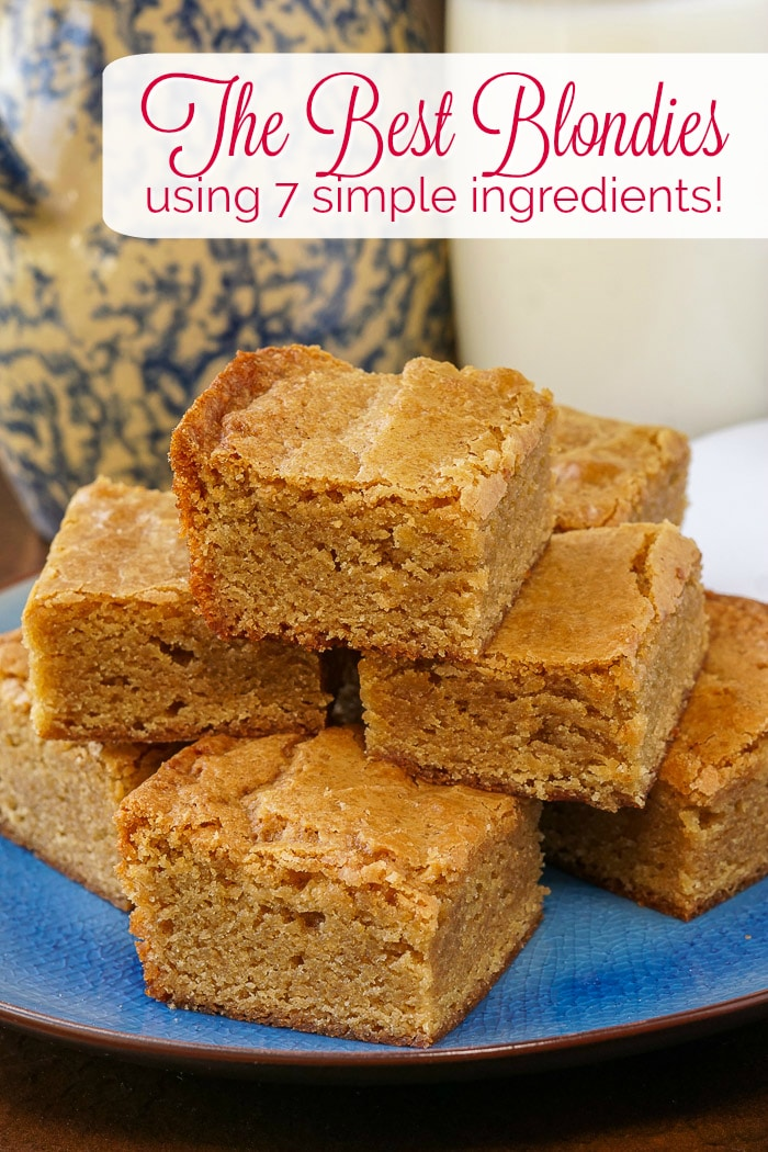 The Best Blondies photo with title text for Pinterest