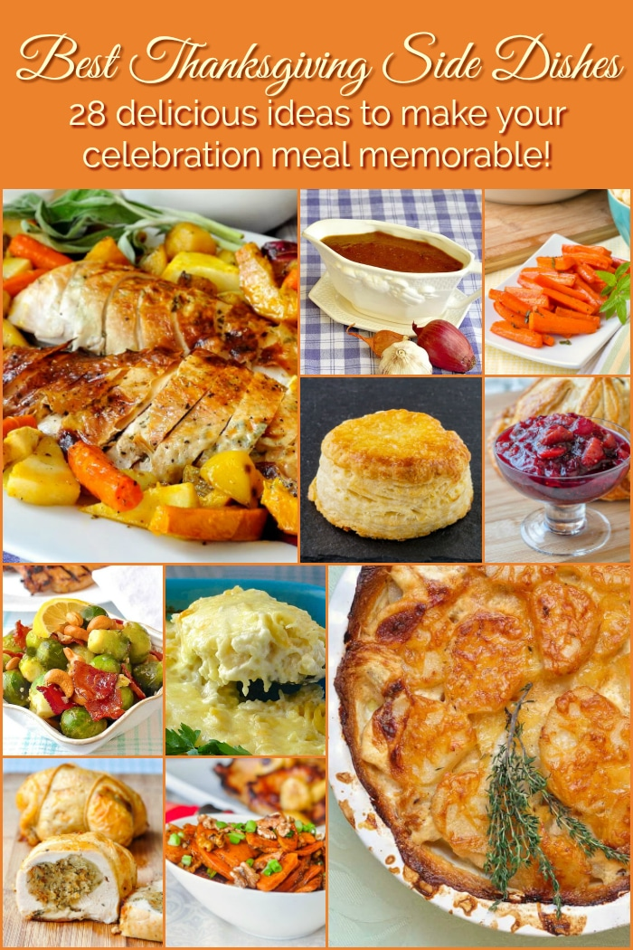 Best Thanksgiving Side Dishes photo collage with title text added for Pinterest