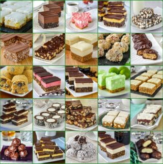 No Bake Christmas Cookies Collage featured image
