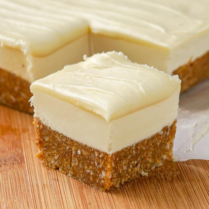 White Chocolate Nanaimo Bars