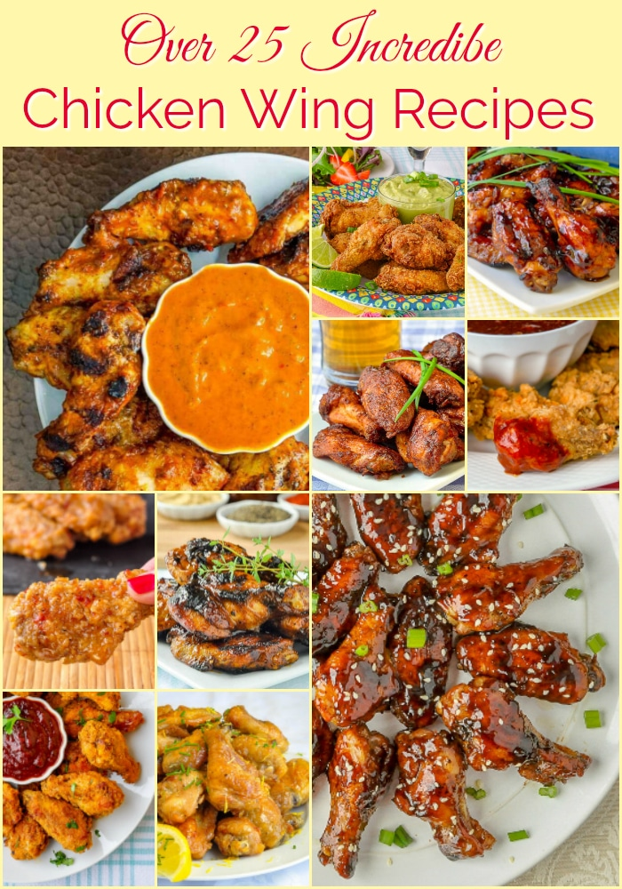 26 Best Chicken Wing Recipes photo collage with title text