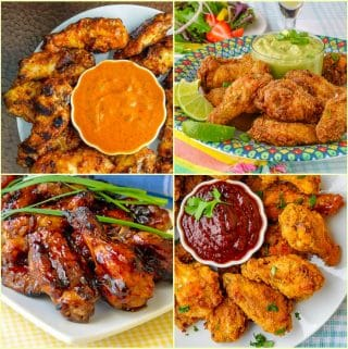 Best Chicken Wing Recipes 4 Photo Collage as featured image for this post