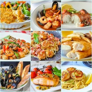 Best Seafood Dinner Recipes 9 photo collage for featured image