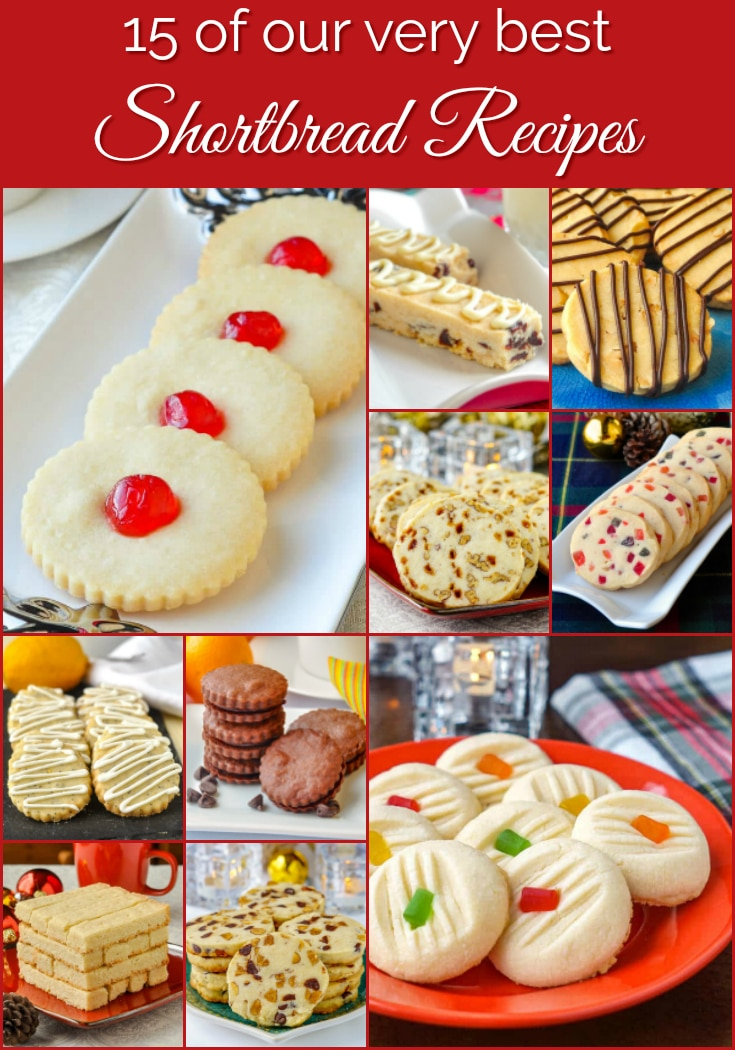 Best Shortbread recipes photo collage with title text for Pinterest