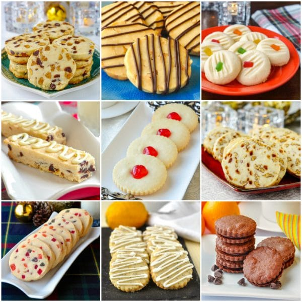 Best shortbread recipes collage of 9 photos for the post's featured image