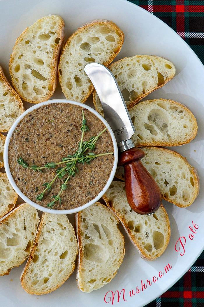 Mushroom Paté photo with title text for Pintertest
