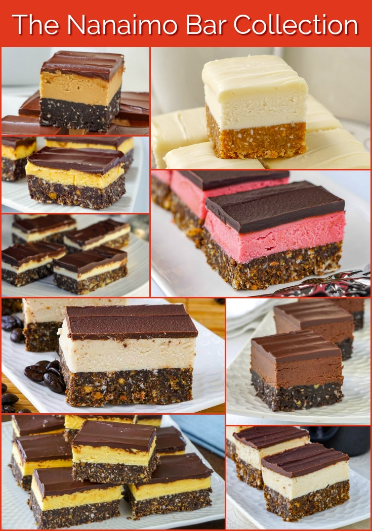 The Nanaimo Bar Collection photo collage 2 for Pinterest