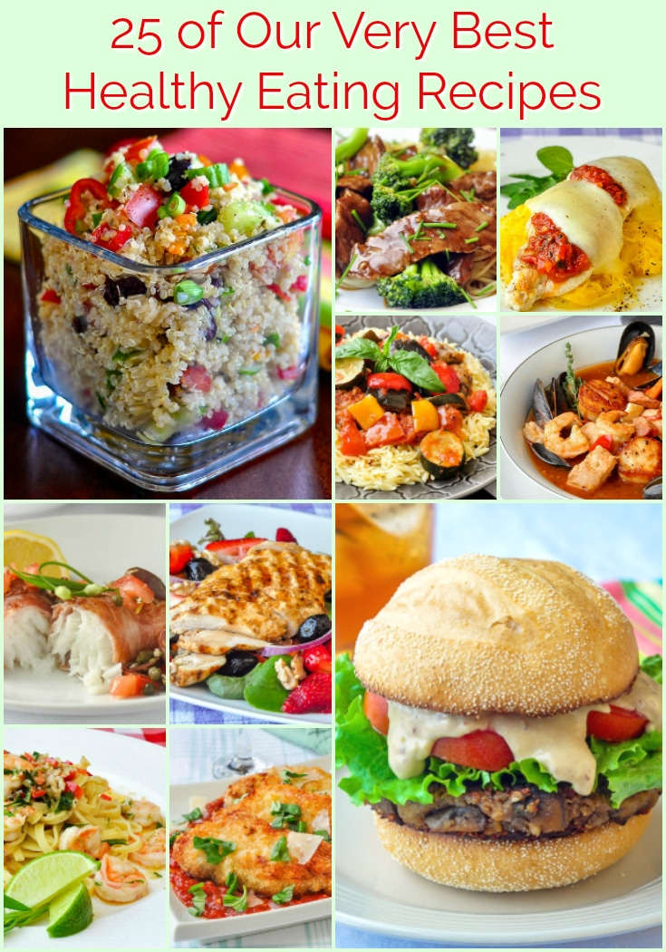 Best Healthy Eating Recipes photo collage with title text for Pinterest