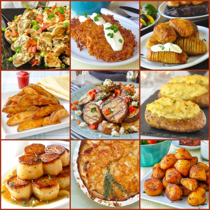 Best Potato Recipes 9 photo square collage for featured image