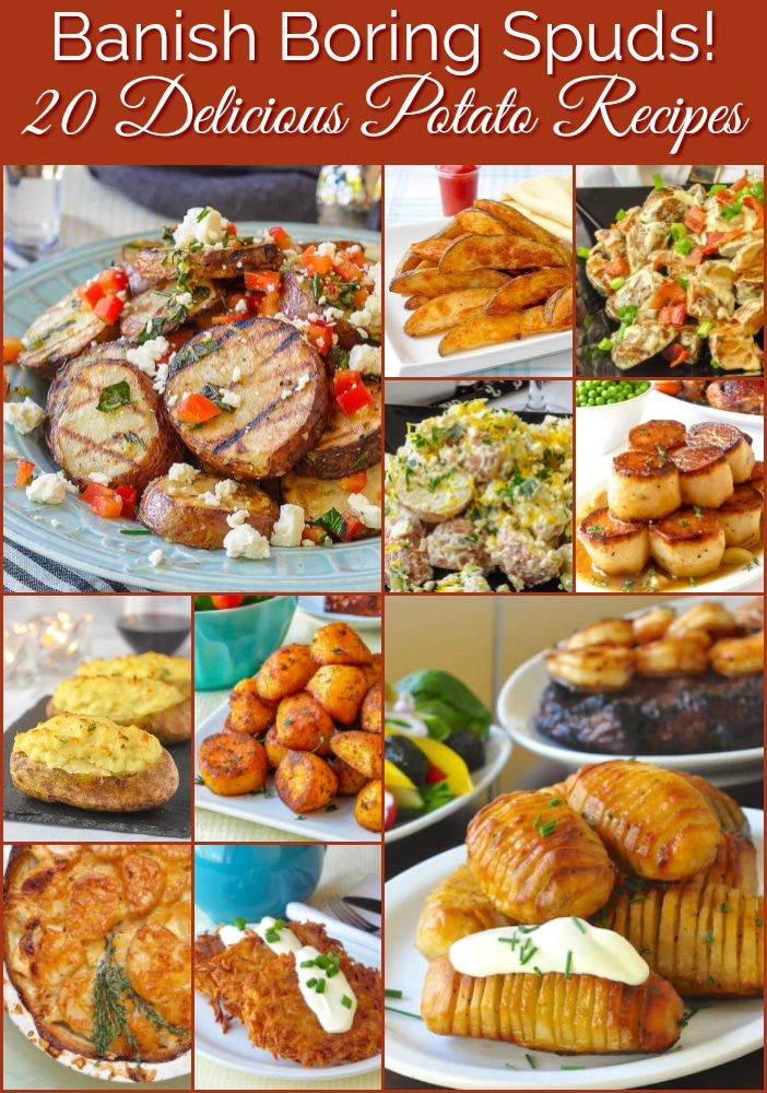 Best Potato Recipes photo collage with title text for Pinterest
