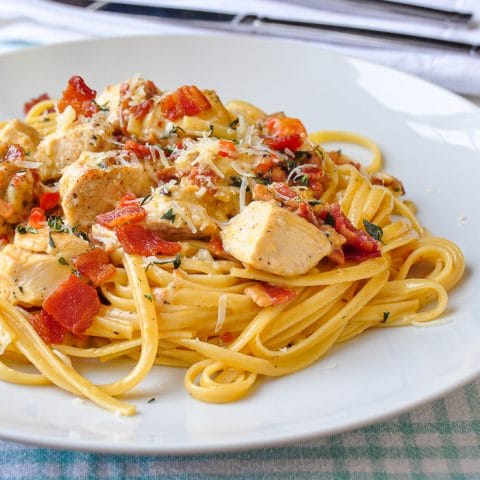 Parmesan Chicken Linguine square cropped photo for featured image