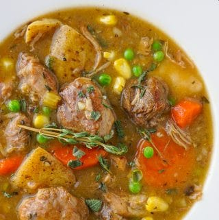 Close up of Pork Stew for featured image