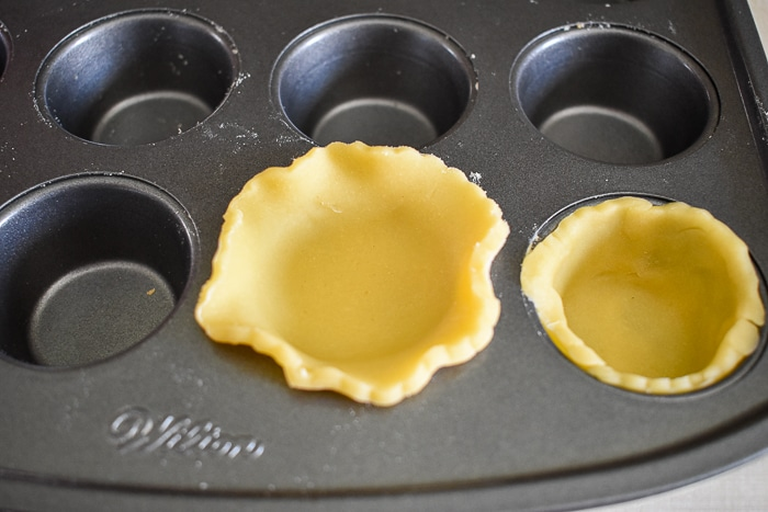 3 and a half inch cookie cutters are the perfect size to make mini tart shells