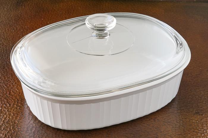 Corelle covered casserole