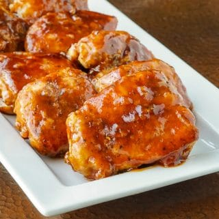 Honey Garlic Barbecue Chicken close up square cropped featured image