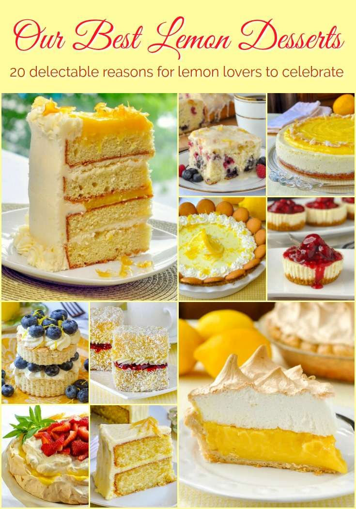 Best Lemon Desserts photo with title text added for Pinterest