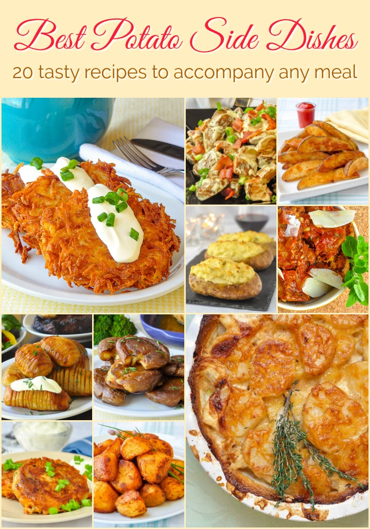 Best Potato Side Dishes photo collage with title text for Pinterest