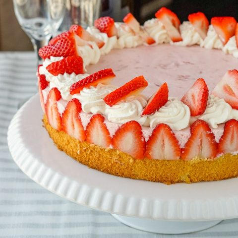 Strawberry Marshmallow Mousse Cake
