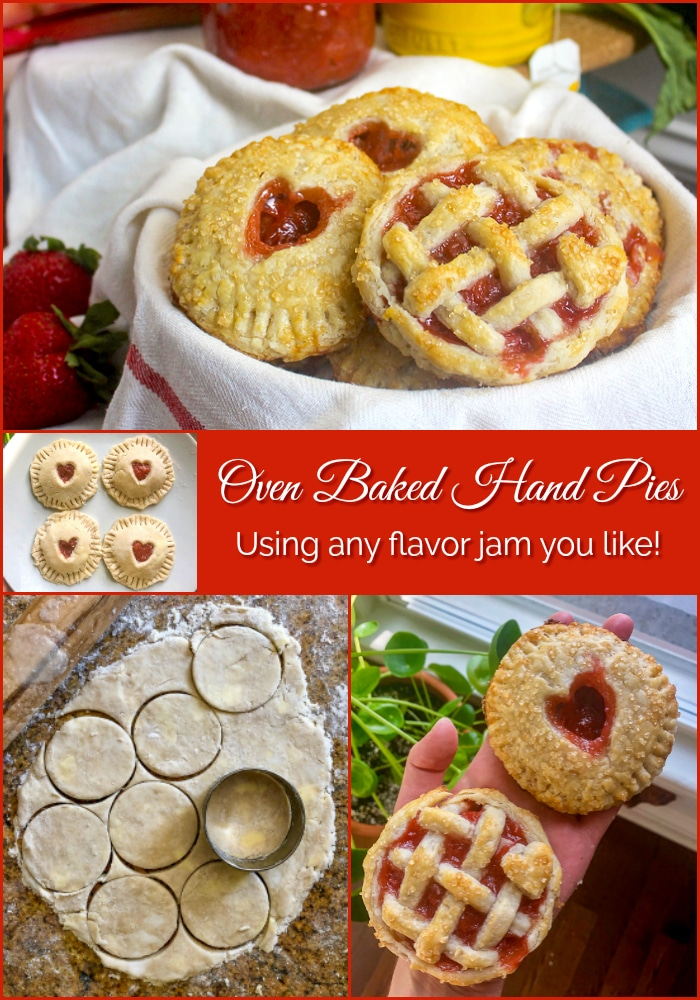 Baked Hand Pies photo collage with title text added for Pinterest