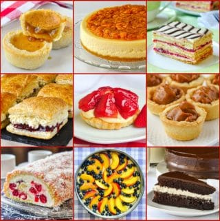 Best Canada Day Desserts 9 photo collage for post featured image