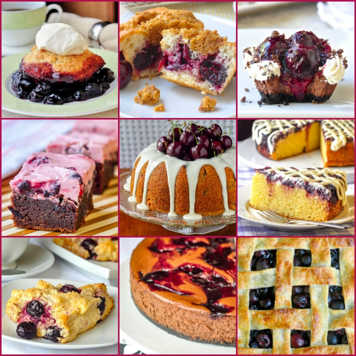 Best Cherry Recipes nine photo collage for featured image