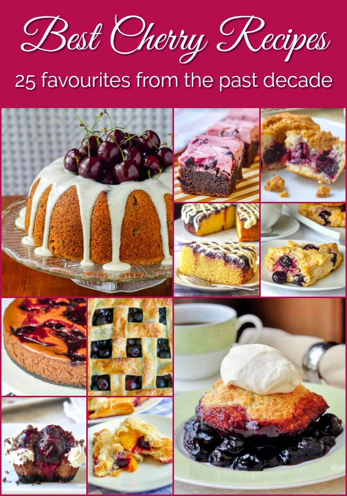 Best Cherry Recipes photo collage with title text added for Pinterest