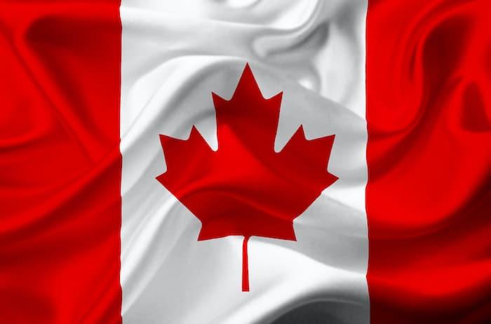 photo of waving Canada Flag