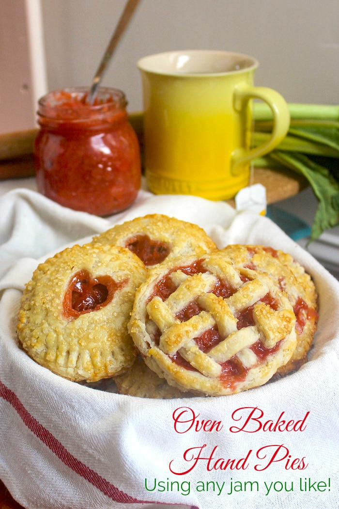 Oven Baked Hand Pies photo with title text added for Pinterest