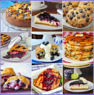 Best Blueberry Recipes photo collage for post featured image