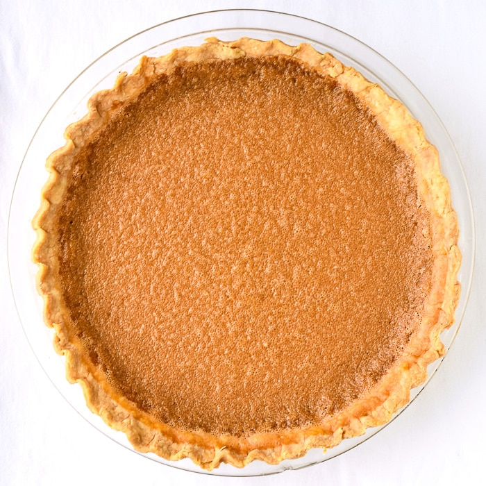 Gypsy Tart photo of uncut tart on a white background