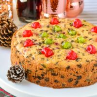 Peach Fruitcake square cropped close up photo for featured image