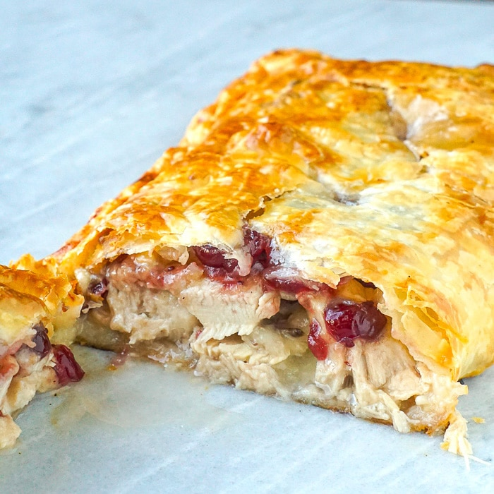 Quick & Easy Leftover Turkey Strudel square cropped photo for featured image