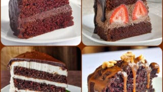 Best Chocolate Cake Recipes 4 photo collage for featured post image