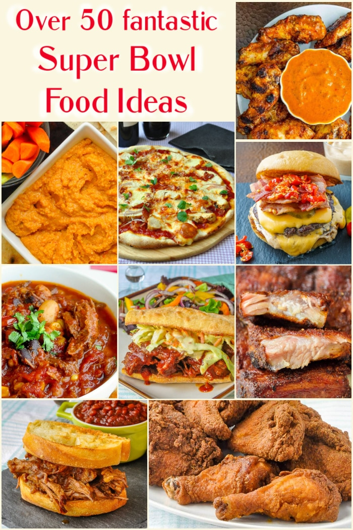 Best Super Bowl Party Food Ideas photo collage for Pinterest