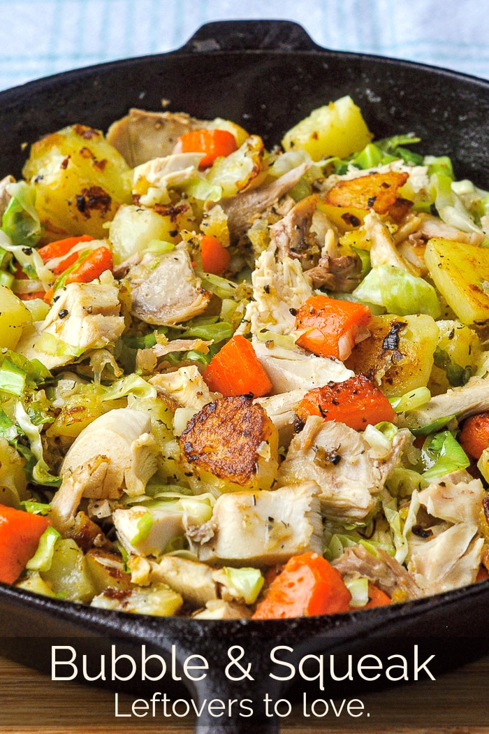 Bubble and Squeak photo with title text added for Pinterest
