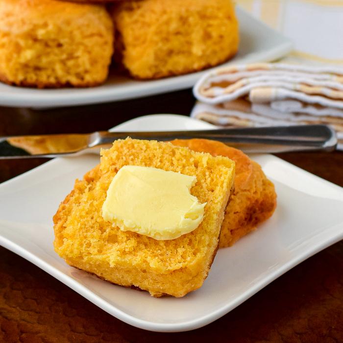Close up of a custard tea buns with butter