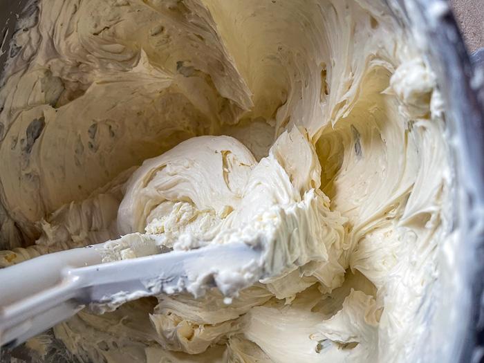 Beat to soften the cream cheese