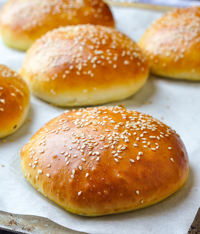 The Best Hamburger Buns Recipe just out of the oven