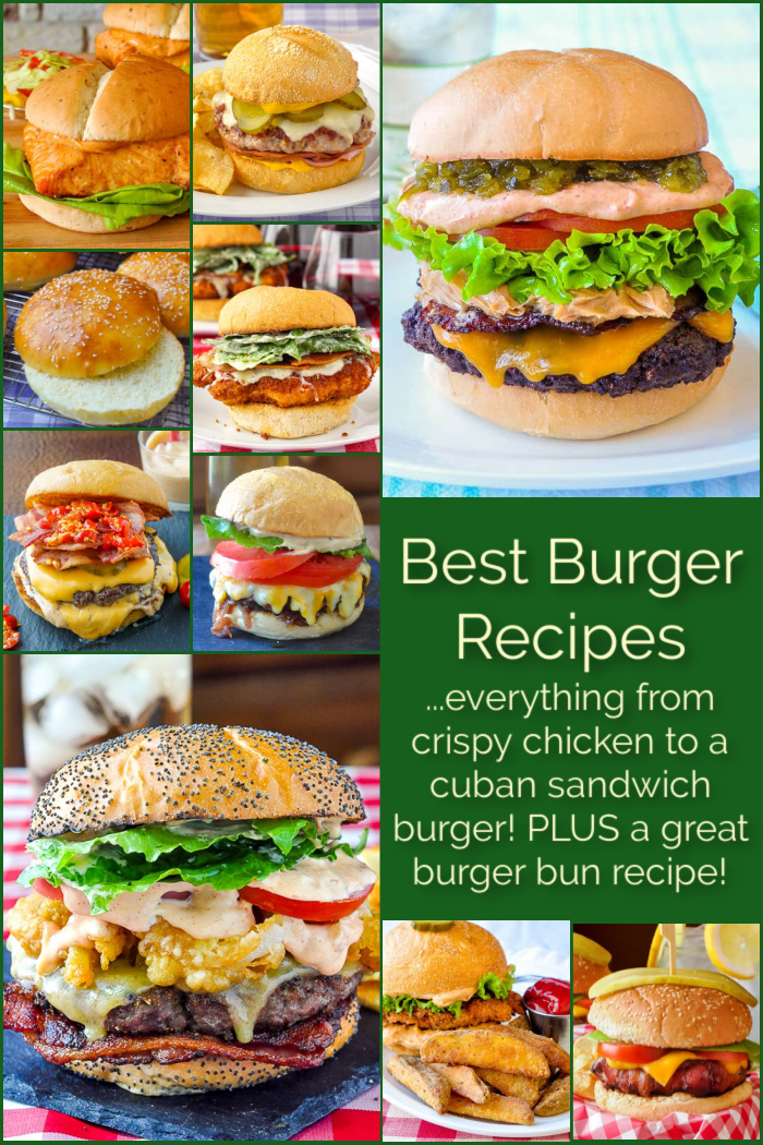 Best Burger Recipes collage with title text added for Pinterest