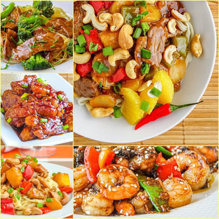 Chinese Take Out Recipes 5 photo collage for featured image